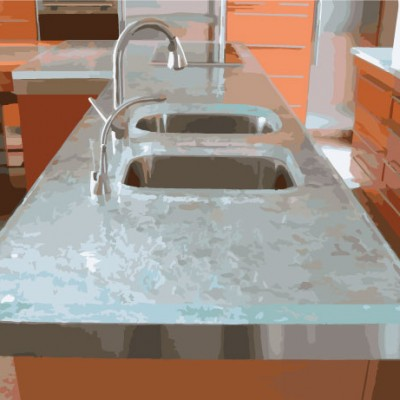 Glass Kitchen Countertops Maryland